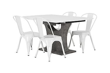 Ruokailuryhmä Seseli Jatkettava 140 cm 4 Cereus tuolia