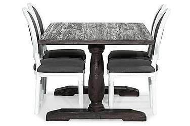 Ruokailuryhmä Suzon 160 cm + 4 Wisle tuolia