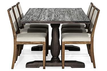 Ruokailuryhmä Suzon 200 cm + 6 Frendy tuolia