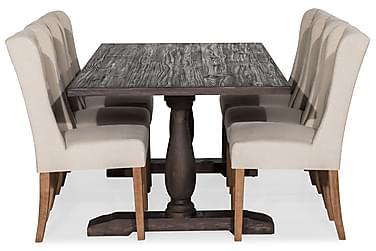 Ruokailuryhmä Suzon 200 cm + 6 Isolde tuolia