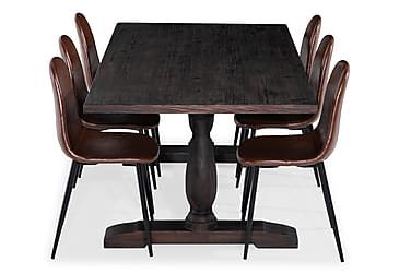 Ruokailuryhmä Suzon 200 cm 6 Naira tuolia