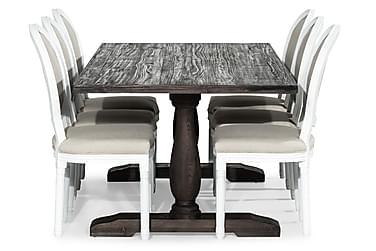 Ruokailuryhmä Suzon 200 cm + 6 Wisle tuolia