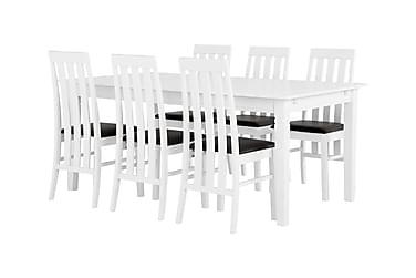 Ruokailuryhmä Svensbo 180 Valkoinen/Musta