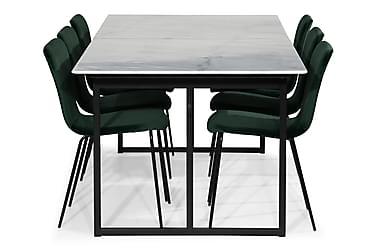 Ruokailuryhmä Titania Marmori 6 Miko tuolia Sametti