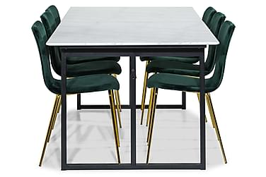 Ruokailuryhmä Titania Marmori 6 Naira tuolia