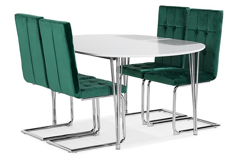 Ruokailuryhmä Tyson Jatkettava 160 4 Jessed tuolilla - Huonekalut - Ruokailuryhmät - Kulmikas ruokailuryhmä