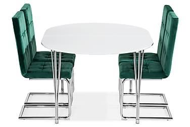 Ruokailuryhmä Tyson Jatkettava 160 4 Jessed tuolilla