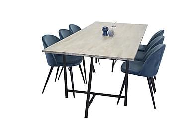 Ruokapöytä Gabija + 6 Luisa tuolia Sametti