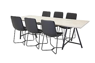 Ruokapöytä Gabija + 6 Theresa tuolia