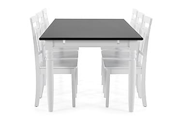 Ruokapöytä Hampton + 6 Catskill tuolia