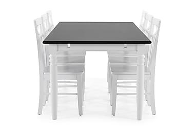 Ruokapöytä Hampton + 6 Matilda tuolia