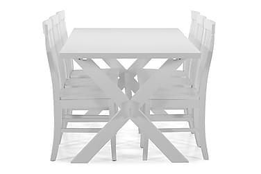 Ruokapöytä Linnea + 6 Milica tuolia