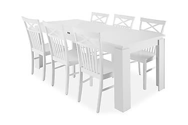 Ruokapöytä Milano + 6 Siri tuolia