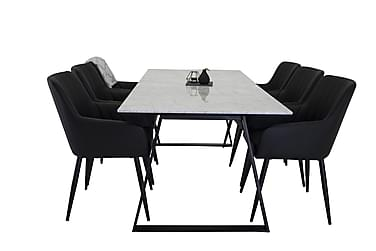 Ruokapöytä Netanya Marmori + 6 Lee tuolia