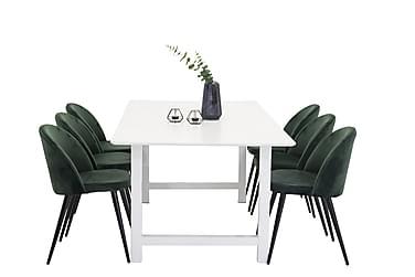 Ruokapöytä Noomi + 6 Luisa tuolia Sametti
