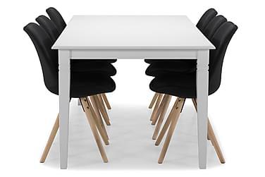 Ruokapöytä Twain 6 kpl Anton tuolia