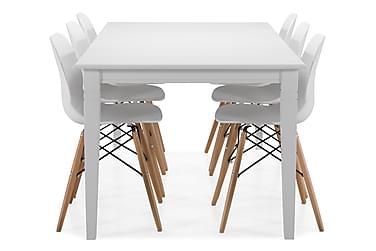 Ruokapöytä Twain 6 kpl Laurent tuolia