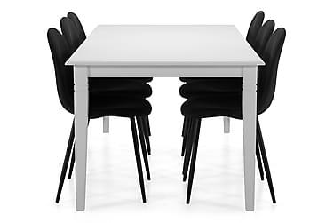 Ruokapöytä Twain 6 kpl Naira tuolia