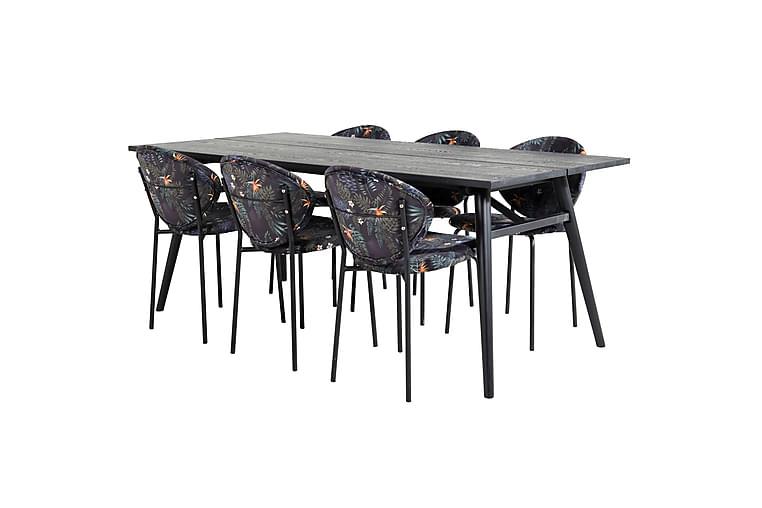 Sediza Ruokapöytä 195 cm 6 Capmany Ruokatuolia - Huonekalut - Ruokailuryhmät - Kulmikas ruokailuryhmä