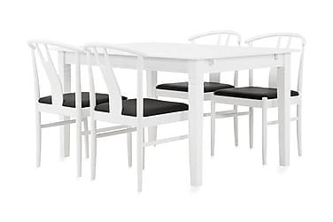 Svensbo Ruokailuryhmä 140 cm Valkoinen/musta
