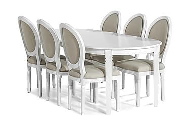 Ruokailuryhmä Lowisa 200 cm + 6 Wisle tuolia