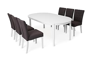 Ruokailuryhmä Lowisa 6 Emmie tuolilla