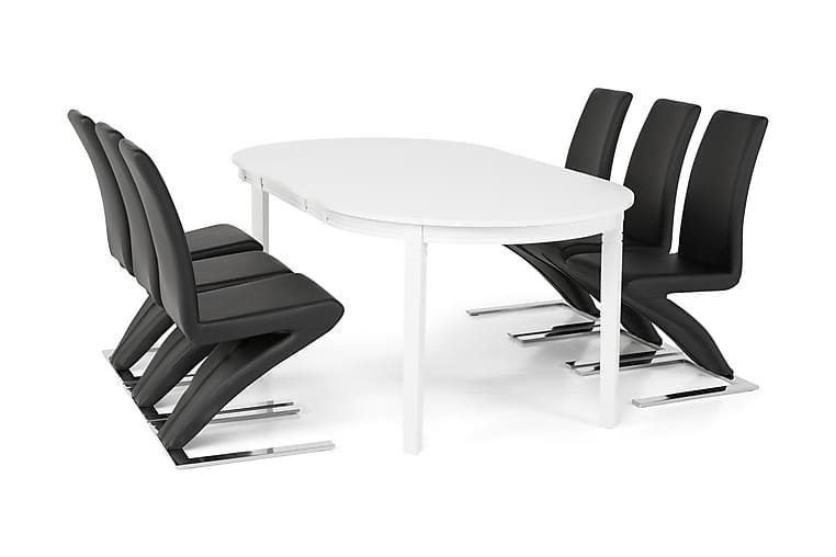 Ruokailuryhmä Lowisa 6 Hugo tuolilla - Huonekalut - Ruokailuryhmät - Ovaali ruokailuryhmä