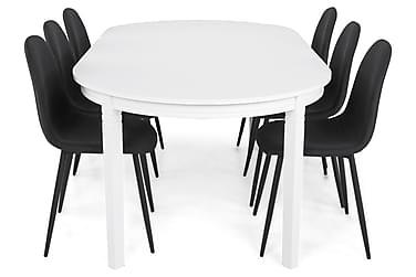Ruokailuryhmä Lowisa Valkoinen/Musta