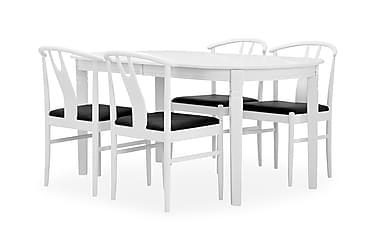 Ruokailuryhmä Paal 160 cm Valkoinen/musta