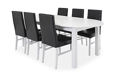 Ruokailuryhmä Siri Jatkettava 160 cm Ovaali 6 Alfhild tuolia