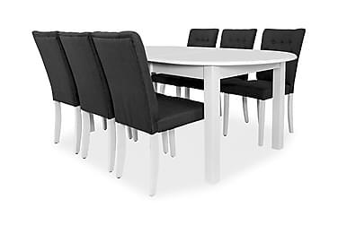 Ruokailuryhmä Siri Jatkettava 160 cm Ovaali 6 Gro tuolia