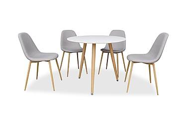Pöytä Tommy Ø90 Tammi/Valkoinen