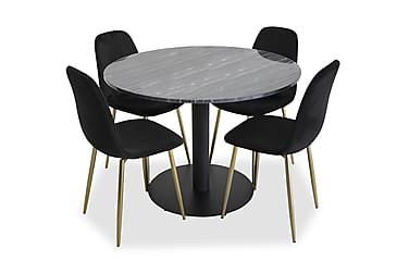 Ruokailuryhmä Admira Pyöreä 4 Pontus tuolilla