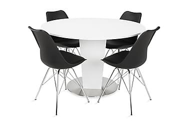 Ruokailuryhmä Blocco 120 cm Valkoinen/musta