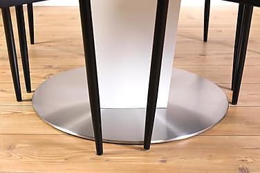 Ruokailuryhmä Blocco 120 cm Valkoinen/Musta/PU