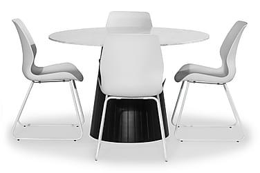 Ruokailuryhmä Dunja 120 cm 4 Taiki tuolilla