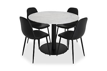 Ruokailuryhmä Netanya Pyöreä Marmori 4 Tommy tuolia