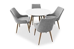 Ruokailuryhmä Polar Pontus 90cm 4 Pelle tuolilla