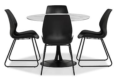 Ruokailuryhmä Severo 100 cm Pyöreä 4 Taiki tuolilla