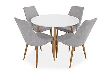 Ruokailuryhmä Trym 100 cm 4 Vemund tuolilla