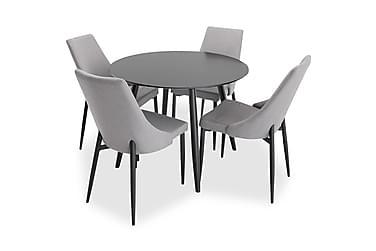 Ruokailuryhmä Trym Pyöreä 4 Abran tuolia