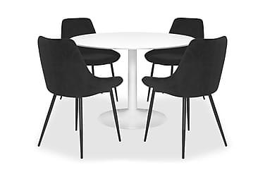 Ruokailuryhmä Vivi Pyöreä + 4 Erle tuolia