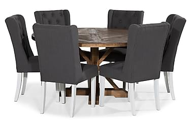 Ruokailuryhmä Yorkshire 150 cm Pyöreä + 6 Isolde tuolia