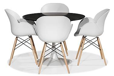 Severo Ruokailuryhmä 100 cm Pyöreä 4 Laurent tuolilla