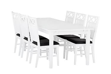 Pöytä Svensbo 180 cm 6 tuolilla