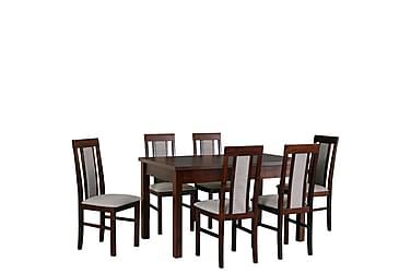 Ruokailuryhmä Decosta I 6 Refugio II tuolia