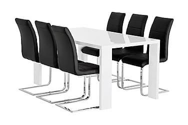 Ruokailuryhmä Fiorenza 160 cm 6 Abuzzo tuolilla
