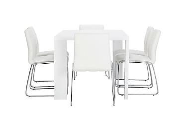 Ruokailuryhmä Fiorenza 160 cm 6 Mucura tuolilla