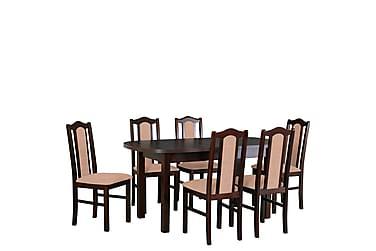 Ruokailuryhmä Matley I 140 cm 6 Kuiper II tuolia