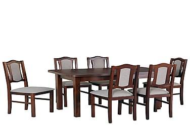Ruokailuryhmä Matley II 140 cm 6 Kuiper tuolia